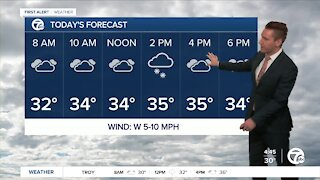 Metro Detroit Forecast: Snow showers after noon
