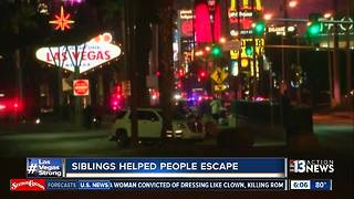 Siblings working security help people escape from horrific Las Vegas shooting - Video