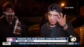 Tensions boil over during caravan protests