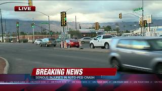 Pedestrian seriously injured in eastside wreck - Video