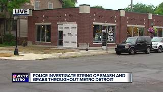 Grosse Pointe Park smash and grab leads to metro wide investigation - Video