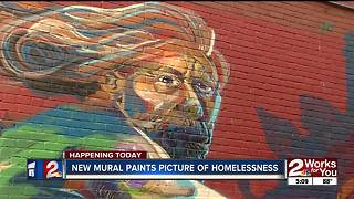 Artist draws attention to homelessness in Tulsa - Video