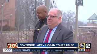 Governor Larry Hogan tours UMBC