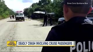 12 people killed as bus carrying foreign tourists crashes on excursion to Mayan ruins in Mexico