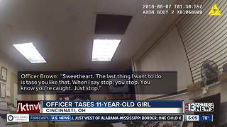Ohio police officer tases girl