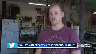 Las Vegas man makes Vegas Strong plaques - Video