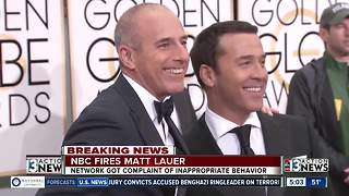 NBC fires Matt Lauer for inappropriate behavior - Video