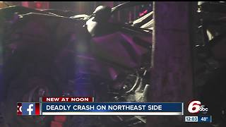 Woman killed in crash on Indy's northeast side - Video