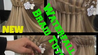 Triple Waterfall Braid hair Tutorial - Video