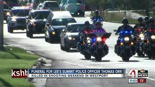 Funeral for Lee's Summit police officer Thomas Orr - Video