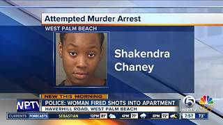 West Palm Beach woman charged with attempted murder after shots fired into apartment with woman, child