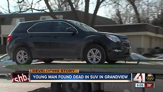 Man found dead in running vehicle in Grandview - Video