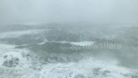 Third nor'easter slams Massachusetts coast with monster waves