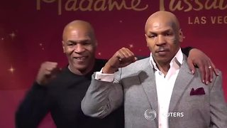 Mike Tyson unveils his waxwork in Las Vegas - Video