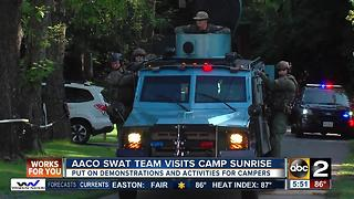 Anne Arundel County SWAT team visits Camp Sunrise - Video