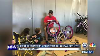 Martin County First Responders volunteer for holiday project - Video