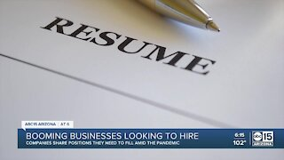 Some booming businesses looking to hire