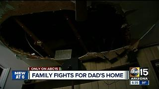 Family attempting to repair home after burned in house fire - Video