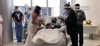 Critically ill COVID-19 patient gets married