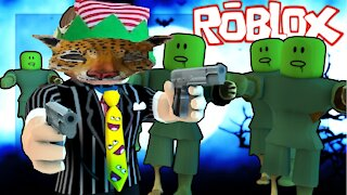 Playing Zombie Outbreak on Roblox