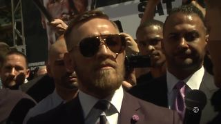 Conor McGregor: 'I believe he'll be unconscious inside of one round.' | Mayweather vs McGregor - Video