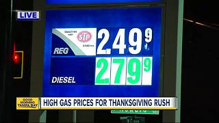 Drivers to see highest Thanksgiving gas prices since 2014 - Video