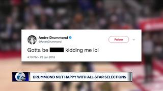 Andre Drummond tweets profanity after missing All-Star Game