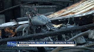 Red Cross helping almost two dozen people after 3 Kenosha fires break out - Video