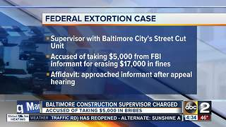 Baltimore construction supervisor charged with taking bribes - Video