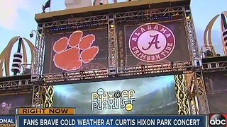 Cold temps for College Football Championship concerts