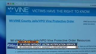 MKE County Jail VINE notification software crash - Video