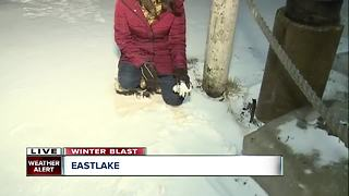 Snow piles up in Eastlake - Video