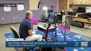 Teachers adapt to online learning, getting creative
