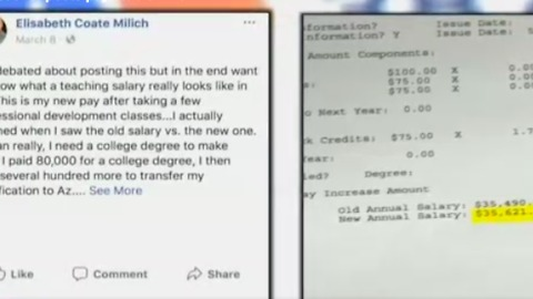 Arizona Teacher Posts Pay Stub