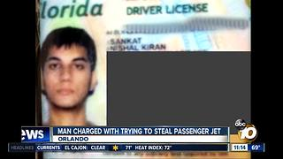 Man charged with trying to steal plane