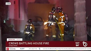 Fire erupts in garage at Chula Vista home