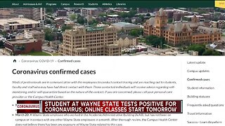 Wayne State student tests positive for COVID-19