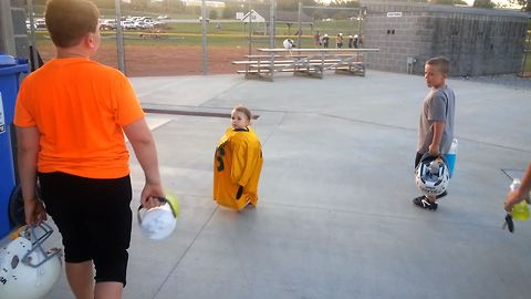 This Adorable Girl In Football Gear Is The Cutest MVP