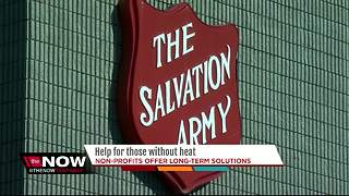 Non-profits offer long-term solutions for those without heat - Video