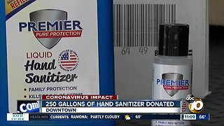 250 gallons of hand sanitizer donated