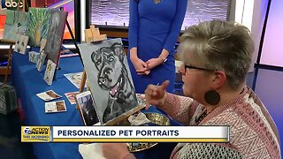 Personalized pet portraits painted by local artist