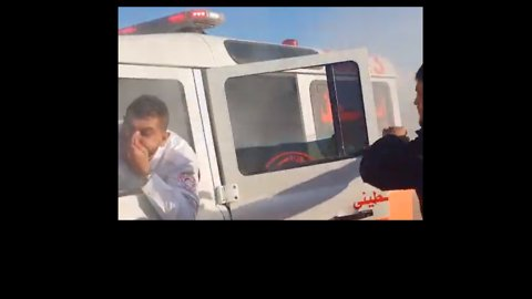 Occupants Flee Red Crescent Ambulance Hit With Tear Gas During Gaza Clashes