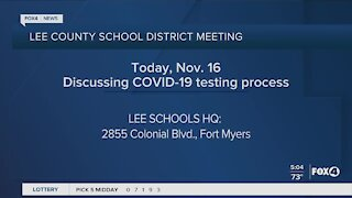 Lee County School District to discuss Covid testing