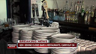 Gov. DeWine shuts down all bars and restaurants, issues unemployment assistance