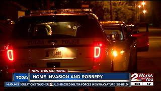 Tulsa Police respond to home invasion near 76th East Avenue - Video