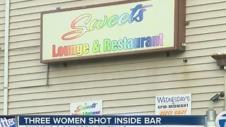 Three women shot inside bar - Video