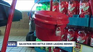 Salvation Army Red Kettle campaign lagging