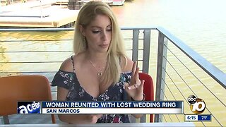 Man finds lost ring in Lake San Marcos