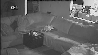 VIDEO: Home surveillance video shows masked man robbing mother while children are asleep - Video