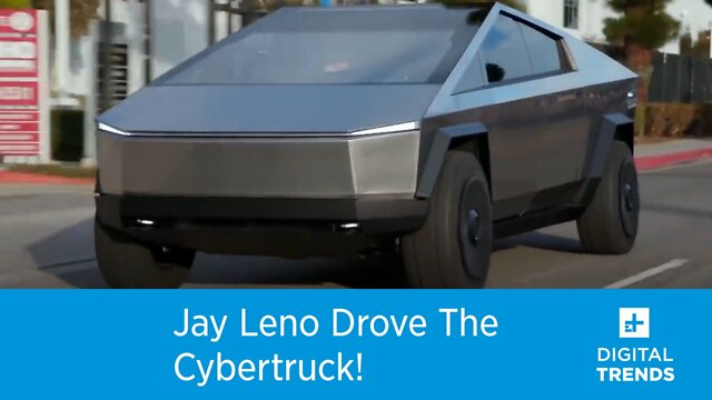 Jay Leno drove the Cybertruck!